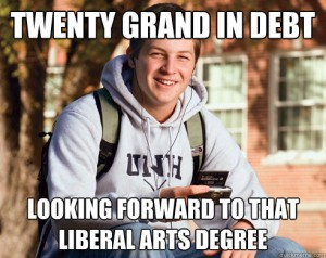 student loan debt liberal arts