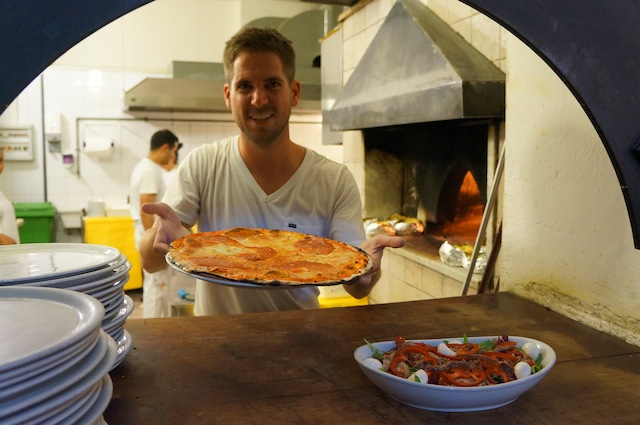Pizza making in Rome