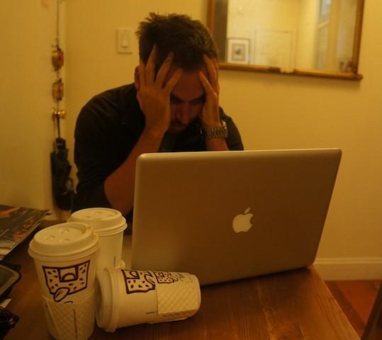 stressed blogger