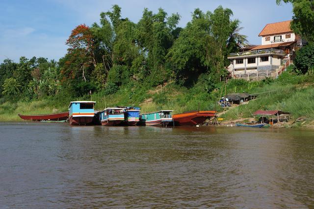 house boats laos