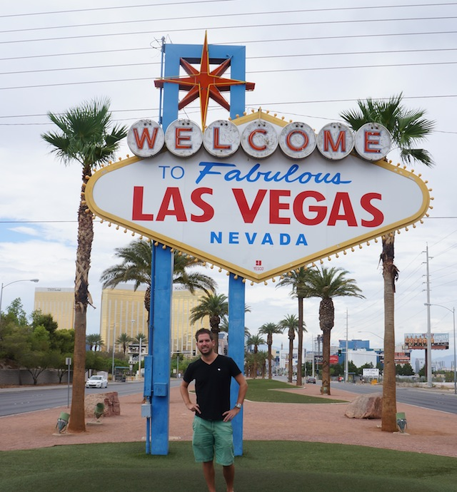 me going crazy in Las Vegas as you can see, clearly
