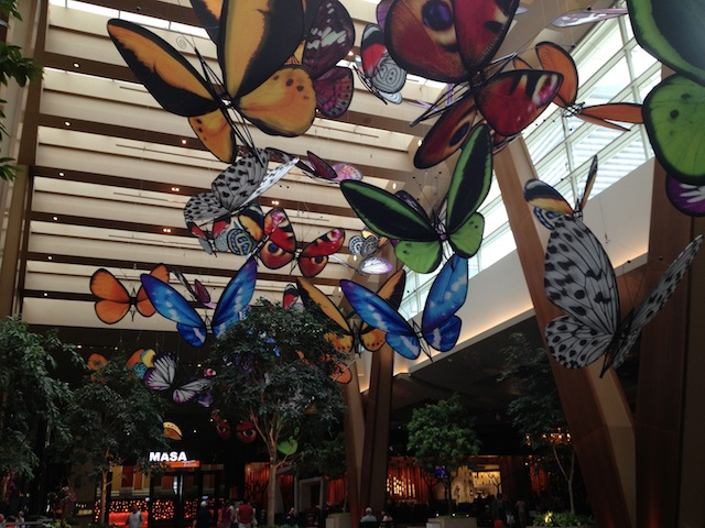 New stuff that wasn't there last time you were there. Aria ceiling