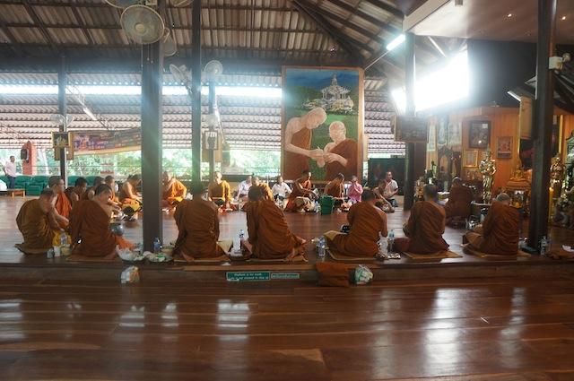 Monks eating