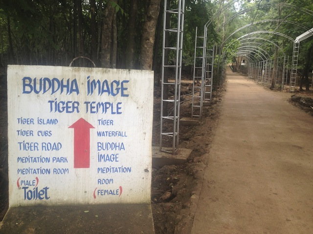 entrance to tiger temple1 Getting to Work at Tiger Temple: Welcome to Tiger Island