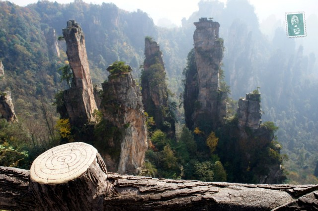visiting Zhgnjiajie mountains in China