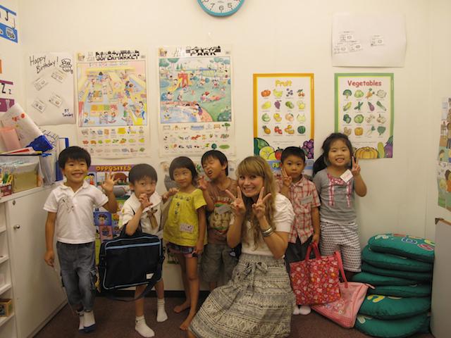 happy english teacher in Japan
