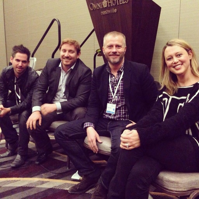 From left to right (the talented & beautiful Erin Street, the notorious Darren Frei, the suave Stephen Oddo, & the 'how the fuck did I get here kid himself' Turner Barr.