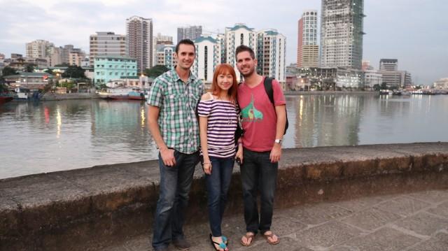 Making new friends in Manila