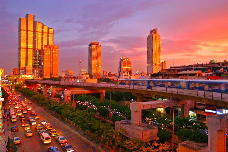Bangkok at Sunset. My former stomping ground.