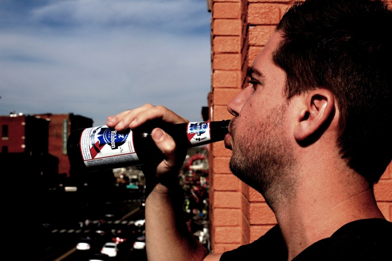 Pabst  Blue Ribbon - PBR - America's go to beer for hicks and hipsters alike.