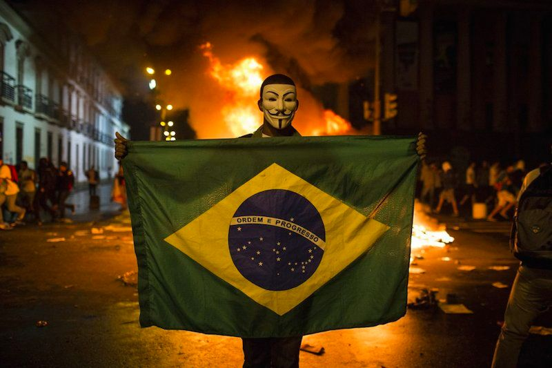 Riots have been breaking out over the World Cup and Olympics that Brazil is hosting for over a year