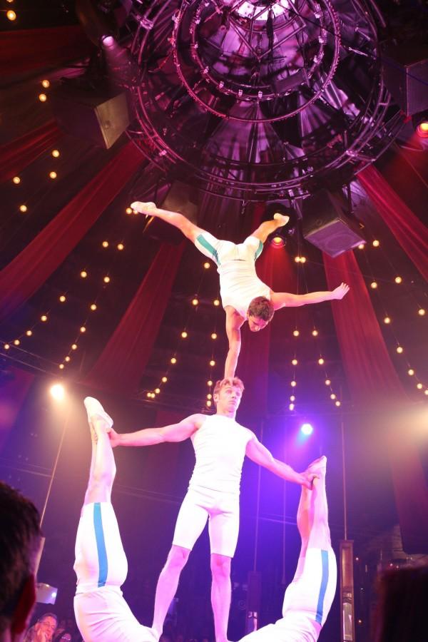 Absinthe acrobats apparently from Ukraine