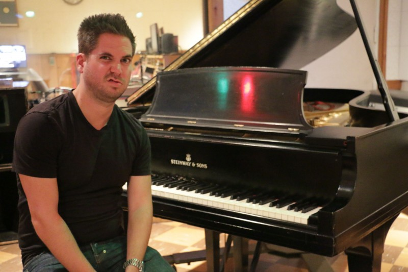 And me making the Elvis face, or trying to, at the Piano and recording Studio B, where Elvis made like 200 songs