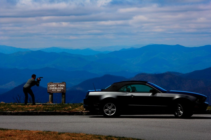 The normal US absent traveller looks over the Smoky Mountains