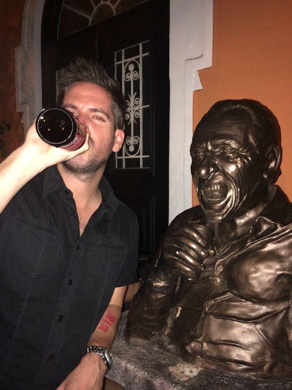 Charles Bukowski Bar in Rio...seems suiting