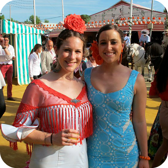 Cat and Hayley going full Spaniard as expats living and working in Spain